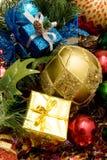 Beaux ornements de Noël Photo libre de droits