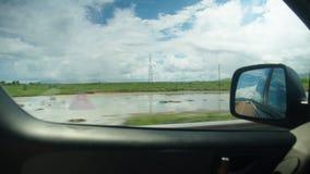 Beaux paysages de route banque de vidéos