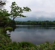 Beaux paysages tranquilles avec de l'eau se reflétants du Shiretoko 5 lacs Images stock