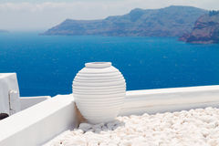 Beaux petits groupes d'île de Santorini, Grèce Image stock