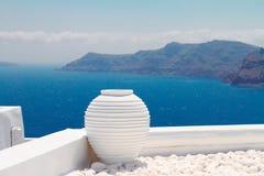 Beaux petits groupes d'île de Santorini, Grèce Images stock