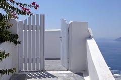 Beaux petits groupes d'île de Santorini, Grèce Photographie stock libre de droits