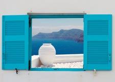 Beaux petits groupes d'île de Santorini, Grèce Photos libres de droits