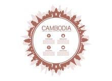 Beaux points de repère de voyage du Cambodge Photographie stock
