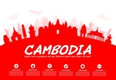 Beaux points de repère de voyage du Cambodge Photographie stock libre de droits