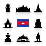 Beaux points de repère de voyage du Cambodge Photos libres de droits