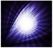 Beaux rayons de fond bleu abstrait de lumière Image libre de droits
