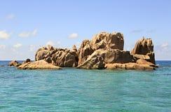 Beaux rochers énormes de granit de St Pierre Photo libre de droits