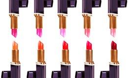 Beaux rouges à lèvres d'isolement sur le fond blanc photo stock
