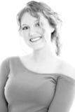 Beaux seize ans en noir et blanc photo stock