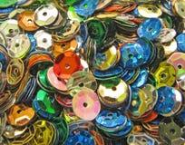 Beaux sequins colorés multi Images libres de droits