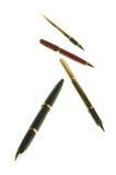 Beaux stylos-plumes Photo libre de droits