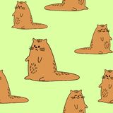 Beaux textiles cr?atifs Image des chatons originaux Papier peint et fond pour une salle de beaux enfants Vecteur illustration de vecteur