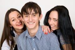 Beaux trois amis Image stock