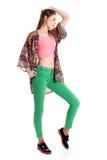 Beaux vêtements colorés à la mode Photos libres de droits