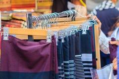 Beaux vêtements tribals thaïlandais et style tribal de textile dans l'aucun Image libre de droits