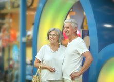 Beaux vieux couples Images libres de droits
