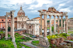 Beaux vieux hublots à Rome (Italie) Image libre de droits