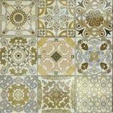 Beaux vieux modèles de carreaux de céramique de mur images stock