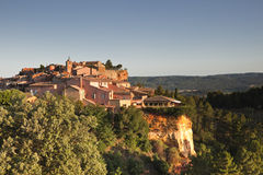Beaux village de Roussillon Royalty Free Stock Photography