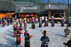 Beaux villages initiaux dans Guizhou, Chine Images libres de droits