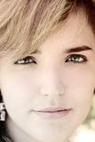 Beaux visage et yeux Image stock