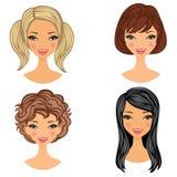 Beaux visages de filles Photos stock