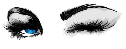 Beaux yeux femelles Images stock