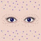 Beaux yeux femelles Photos stock