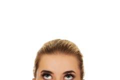Beaux yeux femelles recherchant Photos stock