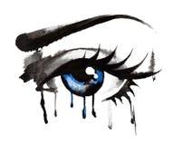 Beaux yeux, tirés par la main Images stock