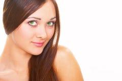 Beaux yeux verts Images libres de droits