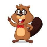 Beaver as nerd geek vector illustration