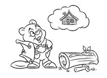 Beaver builder illustration coloring pages Royalty Free Stock Image