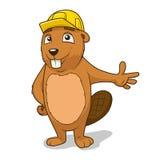 Beaver builder vector illustration Stock Images