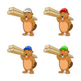 Beaver builder vector illustration Royalty Free Stock Photos