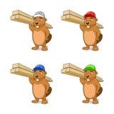 Beaver builder vector illustration Royalty Free Stock Photos