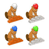 Beaver builder vector illustration Stock Photography