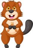Beaver cartoon character. Illustration of Beaver cartoon character Royalty Free Stock Photo
