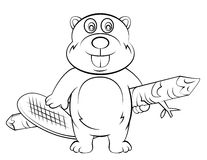 Beaver Cartoon Royalty Free Stock Photos