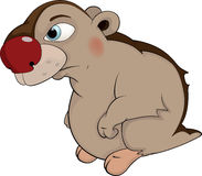 Beaver. Cartoon. Are lovely the beaver with a strip on a back Royalty Free Stock Photo