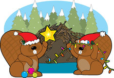 Beaver Christmas Royalty Free Stock Photo