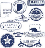Beaver county, PA, generic stamps and signs Stock Photos
