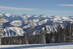 Beaver Creek Blue Bird Day, Gore Range, Avon Colorado, Ski resort Royalty Free Stock Photos