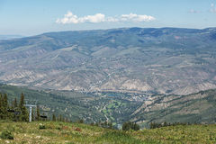 Beaver Creek Resort from mountain top. Stock Photography