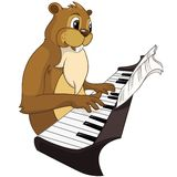 Beaver CREES. Cartoon Character Beaver CREES Isolated on White Background. Vector..Look for Funny Beaver by Keyword CREES Royalty Free Stock Photos