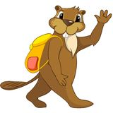 Beaver CREES. Cartoon Character Beaver CREES Isolated on White Background. Vector..Look for Funny Beaver by Keyword CREES Royalty Free Stock Image