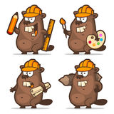 Beaver designer painter engineer builder Royalty Free Stock Images