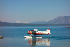 A beaver float-plane used for charters into alaska Royalty Free Stock Photos