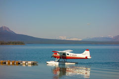 A beaver float-plane used for charters into alaska Stock Images